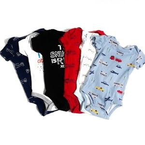6pc Variety Lot of Onesies for Boys Size 12m